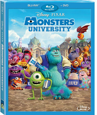 Disney Pixar Monsters University on Blue-ray and DVD combo Oct 29, 2013