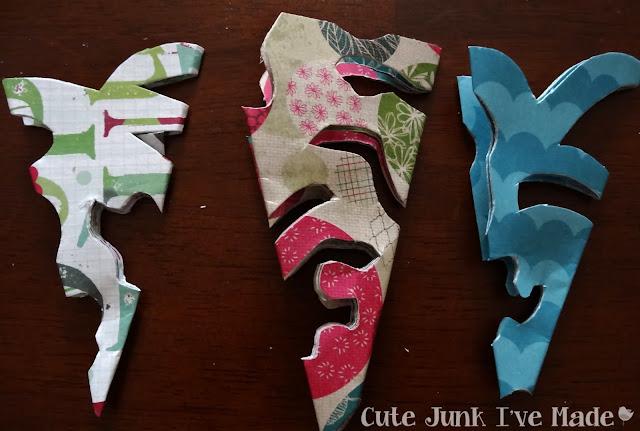 Paper Snowflake Curtain Tutorial - Scrapbook paper free-hand