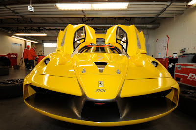 Yellow Ferrari FXX Front Lip Intakes Induction
