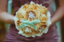 Love is vintage 'Enchanted' brooch bouquet