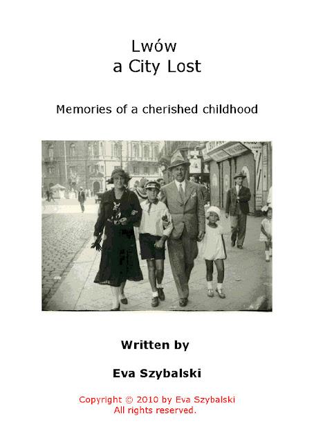 Karta tytułowa książki Ewy Szybalski, Lwów zaginione miasto, 2010. Na fotografii rodzina Szybalskich. Fot. udostępnił Stanisław Szybalski.