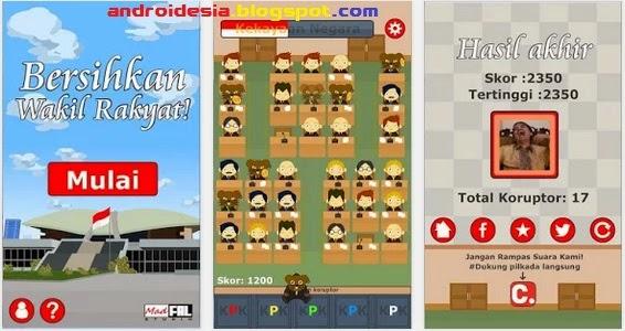 Bersihkan Wakil Rakyat - Game Android Populer Indonesia