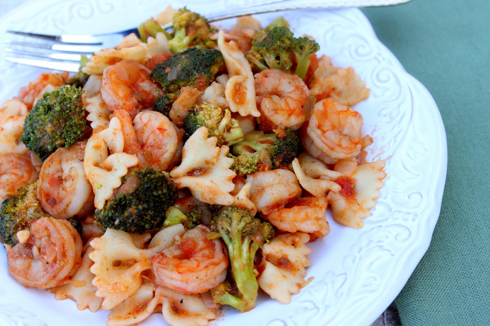 Shrimp Fra-diavolo with Broccoli Recipe via Kudos Kitchen by Renee