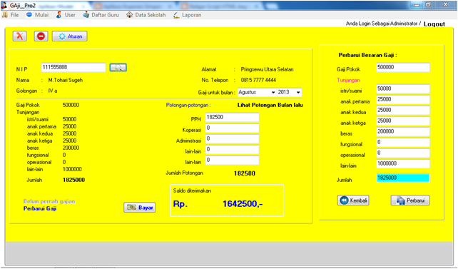 Aplikasi Pembayaran Gaji Guru – Adituek.net