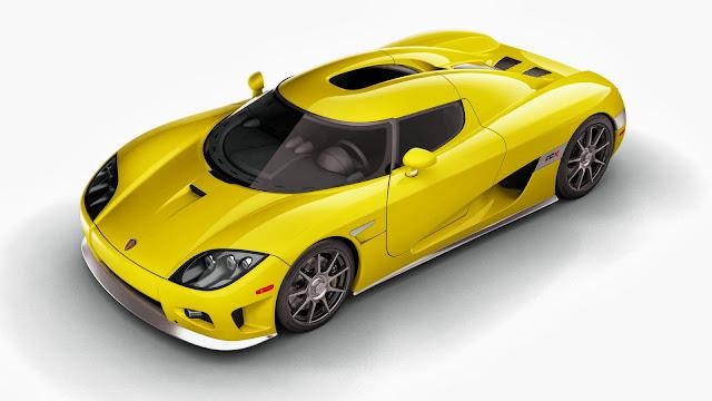 Yellow Koenigsegg