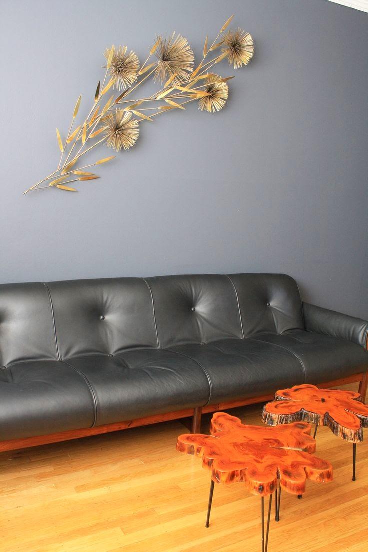 Escultura dorada vintage de pared espiga