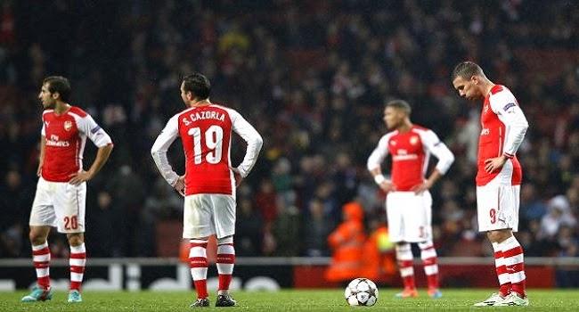El Arsenal empato luego de ir ganando 3-1