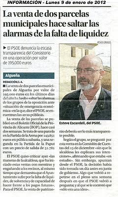 Algueña, PSOE, PP, algueñero, alcaldesa, Mari Carmen Jover, Francisco Carrasco, Luisi Berenguer, Carlos Savenije, PSOE, PP