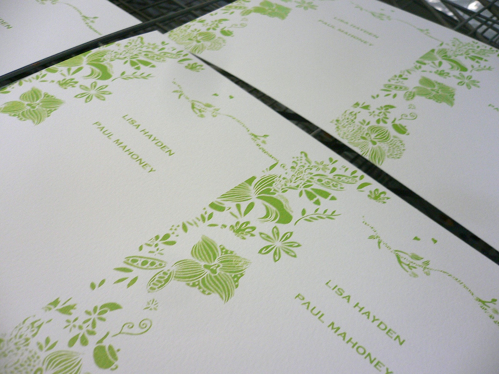 Kalo Make Art Blog: Bespoke Handprinted Wedding Invitations for Lisa ...