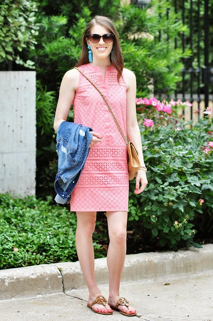 LOFT Mixed Eyelet Club Dress Dallas Fashion Blogger