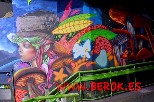 Graffiti mural de fantasía