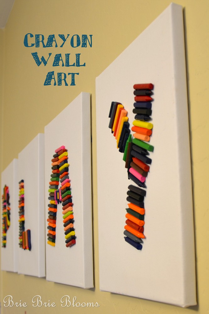 Crayon Wall Art - video tutorial on SheKnows TV Daily Dish - Brie ...