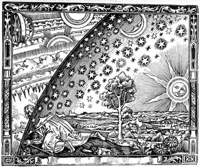 Flammarion woodcut of the cosmos