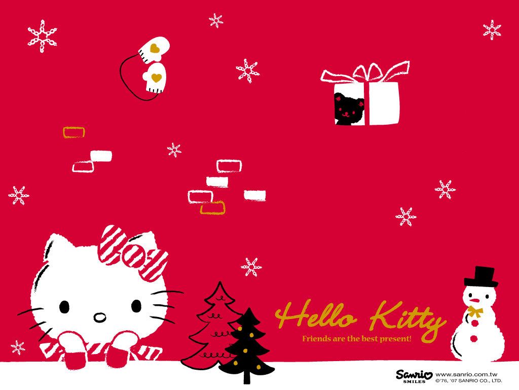 Top Wallpaper Hello Kitty Thanksgiving - red-blackground-hello-kitty-christmas-wallpaper  HD_36681.jpg