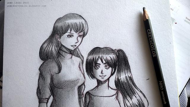 Dibujo de chicas en estilo manga