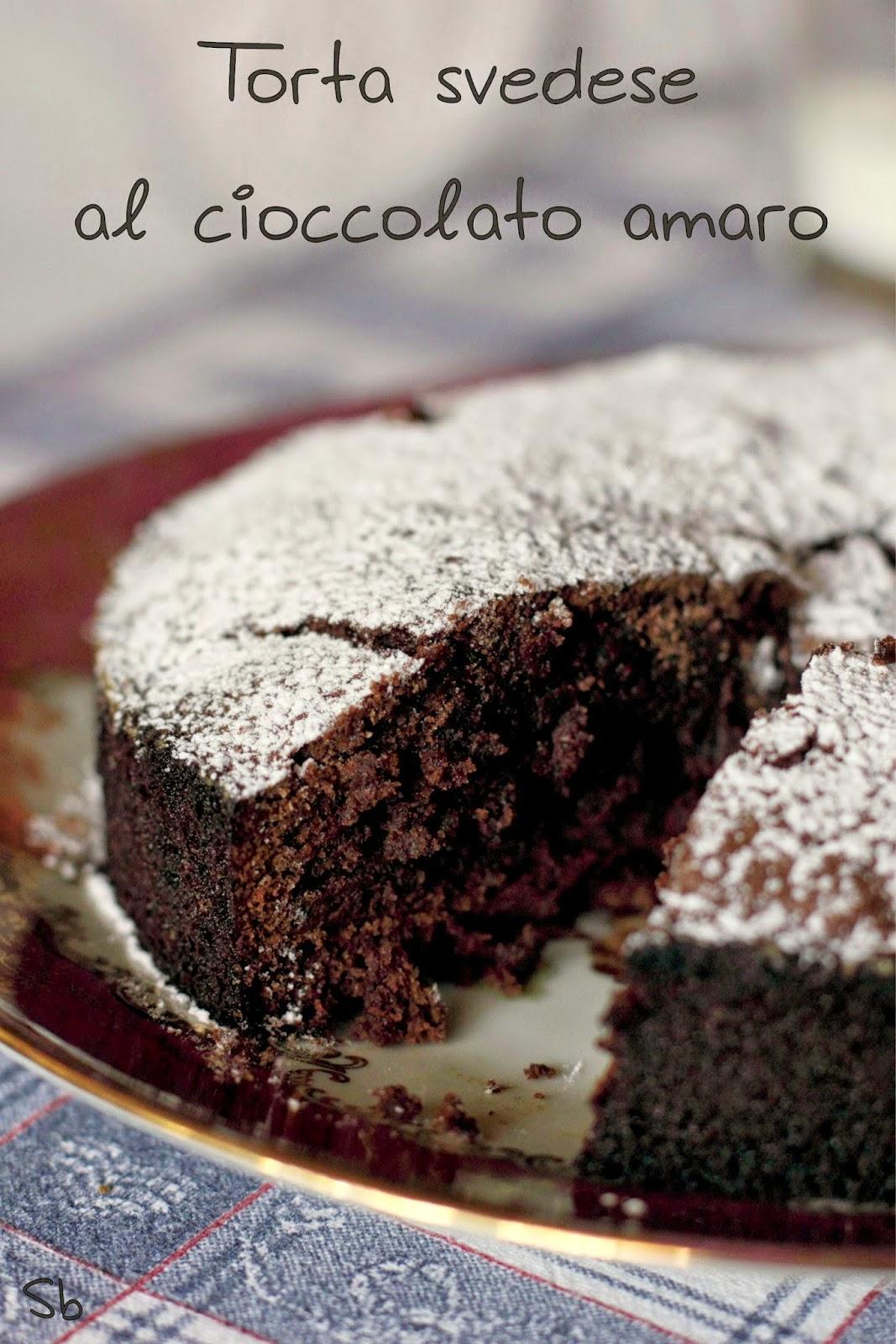 torta svedese al cacao amaro