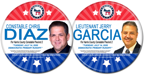 Constable Chris Diaz and Jerry Garcia are the Dem Candidates for Constable Precinct 2