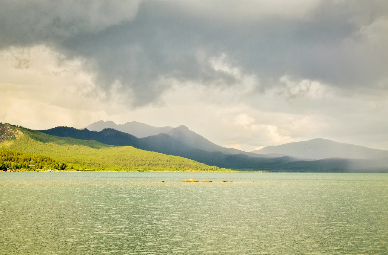 Озеро Щучье в Казахстане