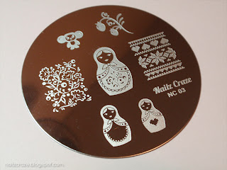 nailz craze nc03 russian themed stamping plate