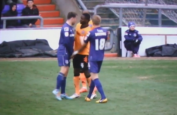 Strike Two! Sam Sodje sneaks in another jab at Jose Baxter's balls