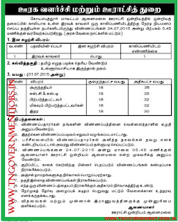 Applications are invited for Direct Recruitment of  Watchman vacancy in Anaimalai Panchayat Union, Coimbatore District Administration
