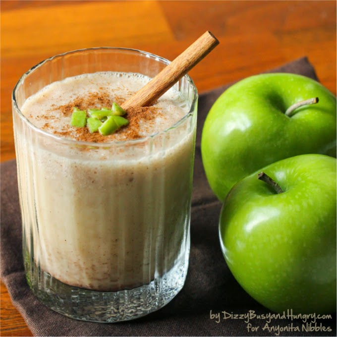Granny Smith Apple Cider Smoothie with Cinnamon from Dizzy Busy and Hungry for Anyonita-nibbles.co.uk