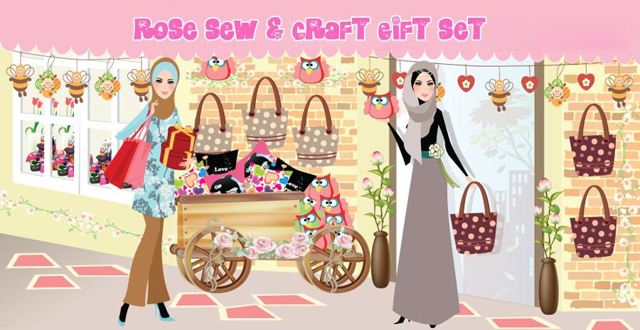 Rose Sew & Craft Gift Set