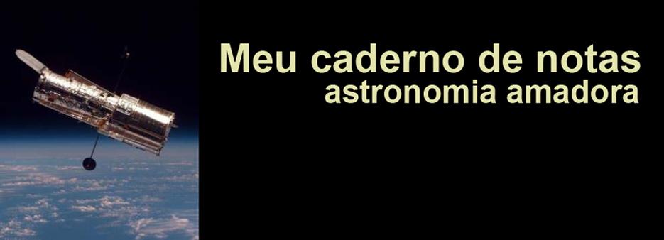 Meu caderno de notas - Astronomia
