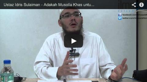 Ustaz Idris Sulaiman – Adakan Musolla Khas untuk Solat Jenazah Berhampiran Tanah Perkuburan