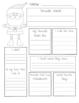 secret santa list template