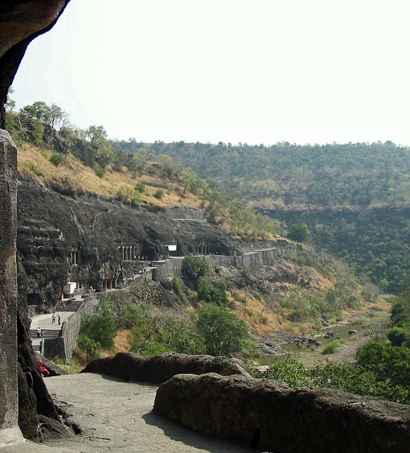 Ajanta caves exterior