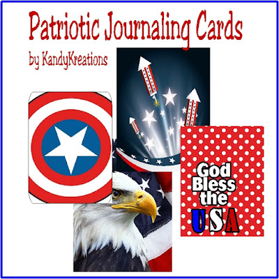 Scrapbook your 4th of July family memories and pictures with these patriotic journaling cards.  With fun fireworks and patriotic designs, they will spruce up your scrapbook layouts in a fun and ssimple way.