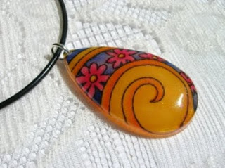 Psychedelic Fabric Necklace