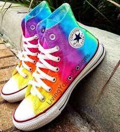come-colorare-le-converse-tingere-color-arcobaleno-diy-dyed-converse-shoes-rainbow