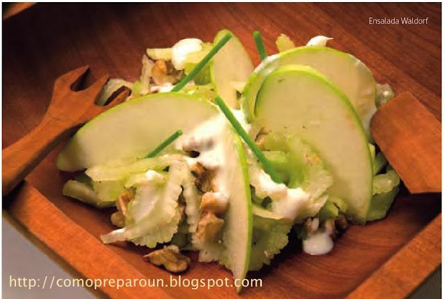 http://comopreparoun.blogspot.com - Como preparo una ENSALADA WALDORF - Receta  - Comida saludable - Recipes