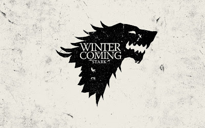Game of Thrones Starks Wolf Flag Winter is Coming HD Desktop Wallpaper