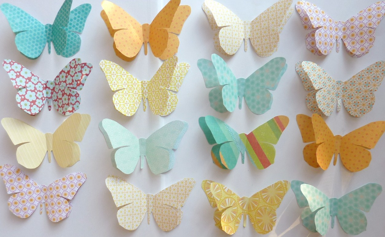 Paper butterflies decorations funny animal for Paper decorations diy