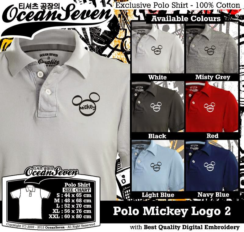 Kaos Polo Mickey Logo 2