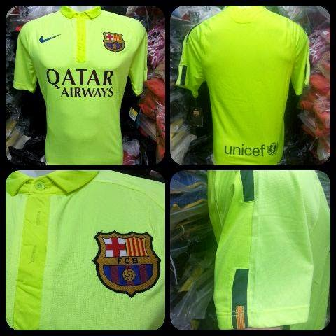 gambar jersey official Jersey Barcelona third Official terbaru musim 2014 2015