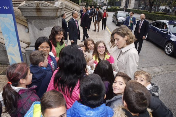 Queen Letizia of Spain attended the first seminar about 'Spain 2030, Spanish Cooperation and the new agenda for sustainable development' at the National Library