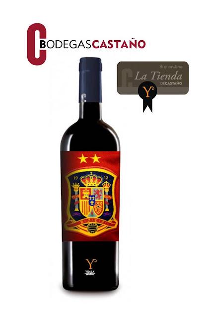 que es rojo y en botella bodegas castaño con la seleccion española