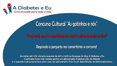concurso cultural, glicossímetro, diabetes, testes de glicemia