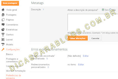 Usar meta tags no blog