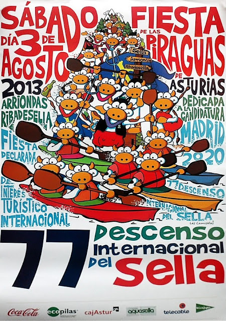 Cartel del 77 Descenso del Sella. Piraguas 2013