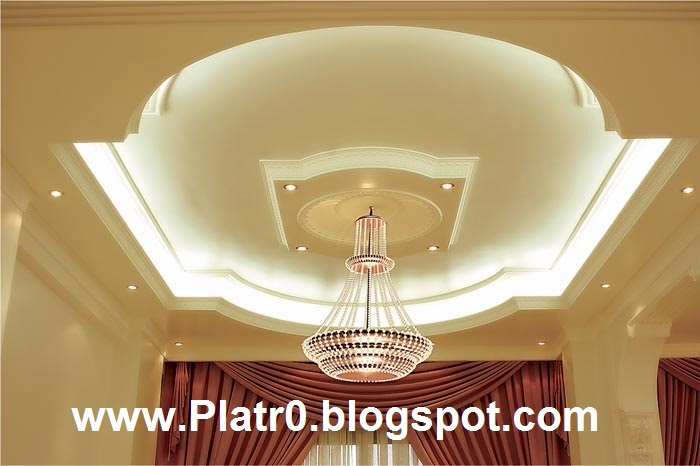 Decoration platre plafond simple for Decoration de platre marocain
