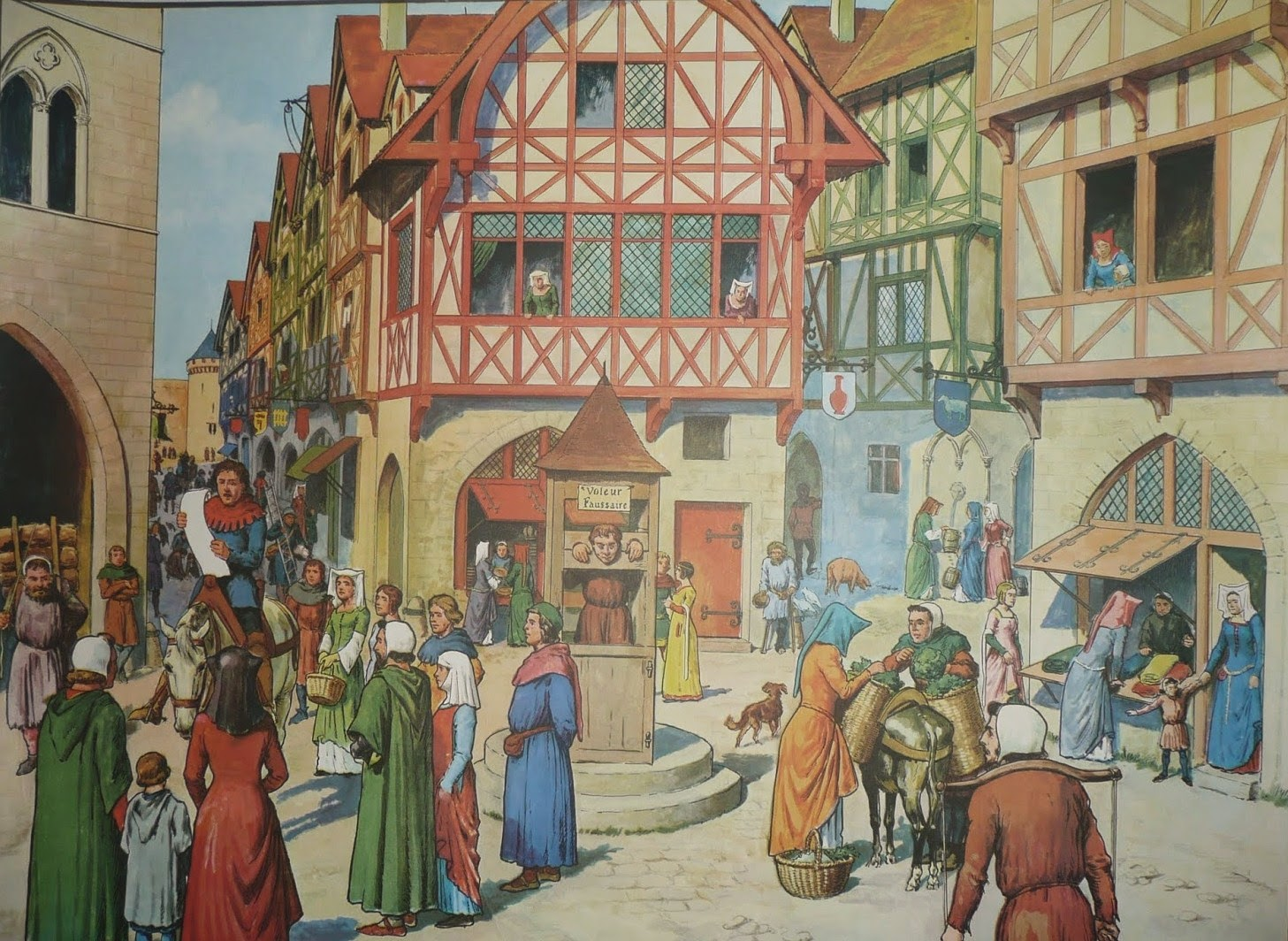Rue Des Villes Du Moyen  Ef Bf Bdge
