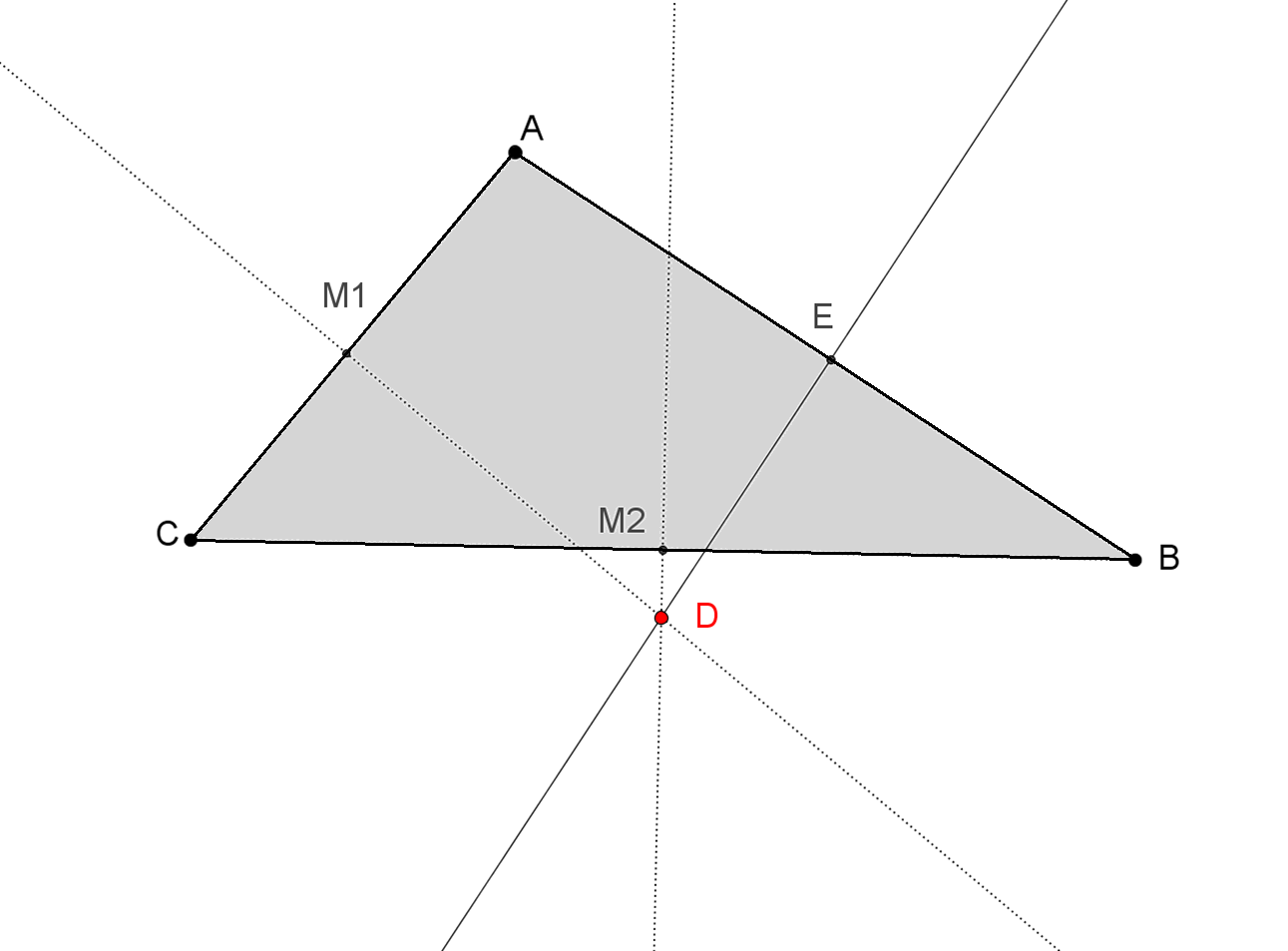 angle bisectors triangle meet one point