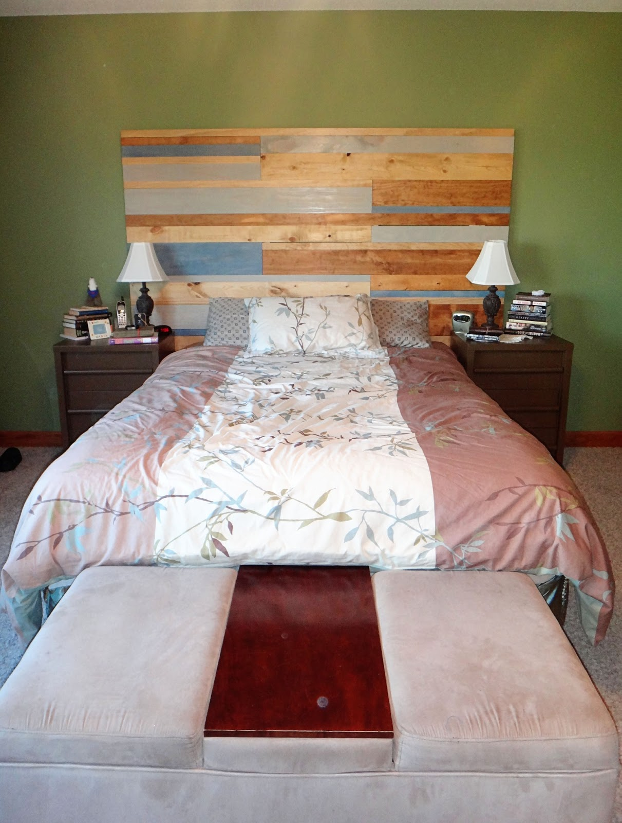 bright forest diy faux pallet wood headboard