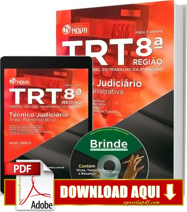 Apostila TRT 8ª Região Técnico Judiciário PDF Download Grátis