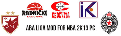 NBA 2K13 ABA Liga / Adriatic League PC Mod